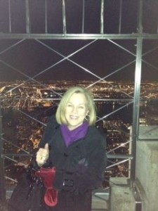 At the top of the Empire State Building